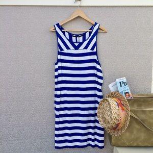 XL Kensie Striped Elastic Waistband Dress